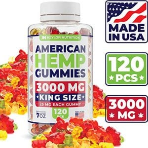35ct Premium Hemp Gummies - 22mg Per Gummy Bear - Organic