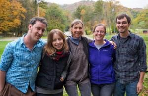 (from left) Joshua Tysinger, Brie Stoner, Cynthia, Becky Crigger, and Matthew Wright • Wisdom School Southeast 2014