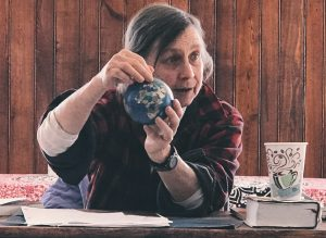 Cynthia with Globe