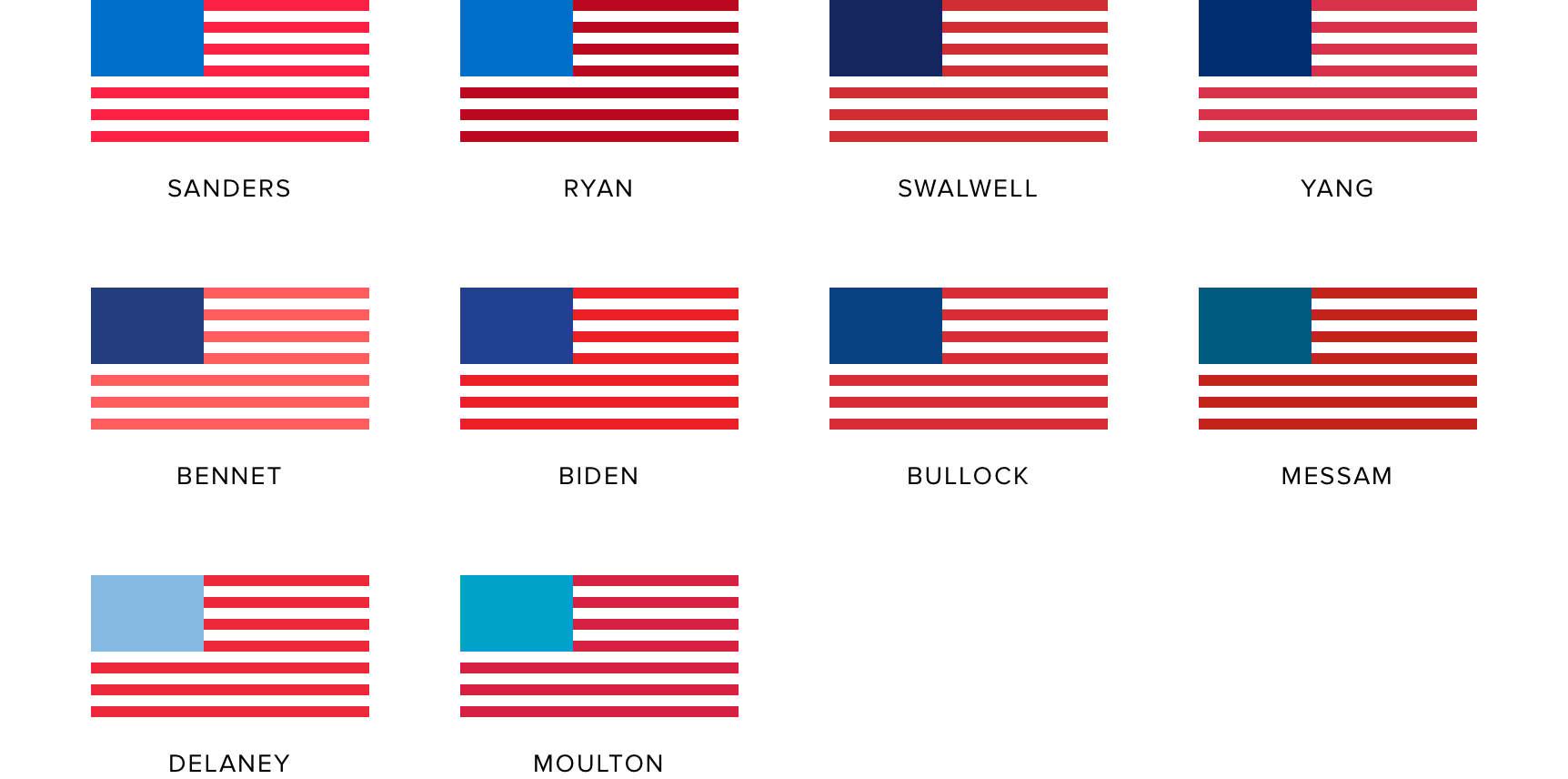 Traditional campaign colors