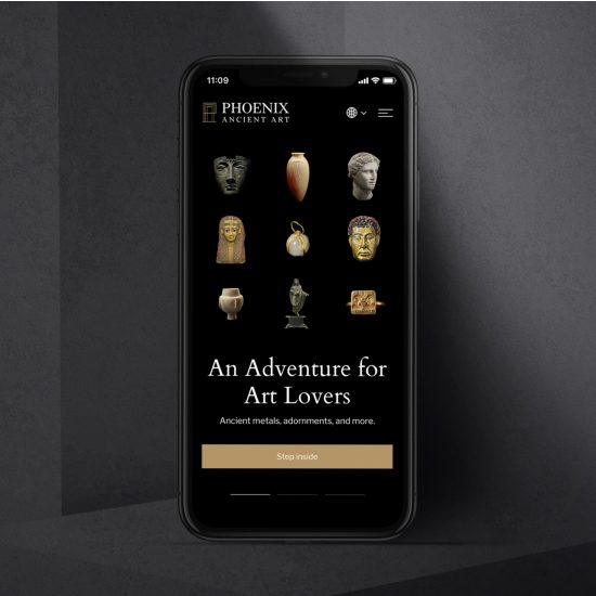 A gallery-worthy redesign for a world-renowned dealer of rare antiquities.