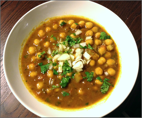 World Cuisine Wednesday: Channa Masala - Indian Chickpea Curry