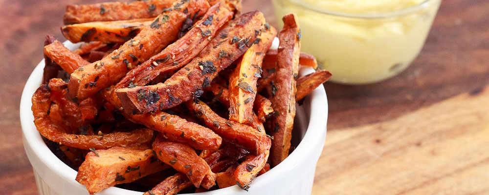 Oven Baked Carrot and Sweet Potato Fries | NoshOnIt