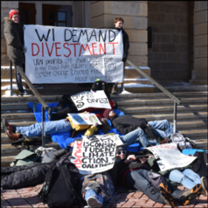 UW-Madison Students Stage Die-In to Demand Divestment