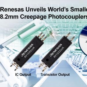 Renesas Announces World's Smallest Photocouplers for Solar Inverter Applications