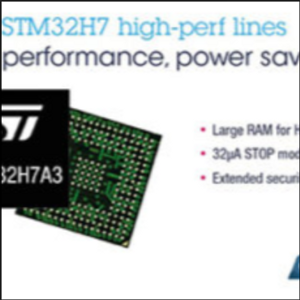 STMicro Announces New Cortex-M7 STM32H7 microcontrollers