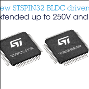 New STSPIN32 BLDC Drivers from STMicroelectronics Target Hi-Voltage Applications