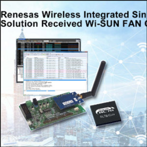 Renesas Expands Wi-SUN FAN Family w/ Wireless Integrated Single-Chip RL78/G1H