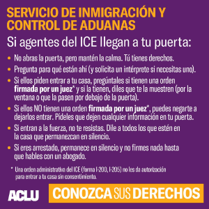 NY immigrants encouraged to be aware of rights, resources as ICE raids expected