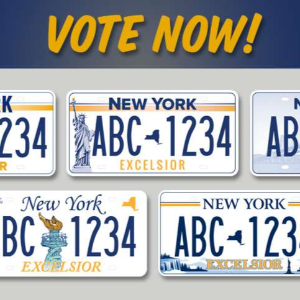 New Yorkers can now vote for new state license plate design