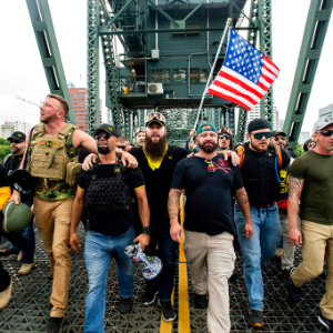 Far-right and antifa groups both claim victory at Portland