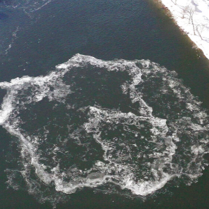 Coming around again: Famous ice disk seems to be re-forming in Westbook, Maine