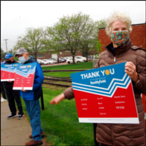 Workers cheered as they enter South Dakota pork plant