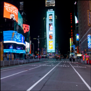 Bomb-sniffing dogs? Check. Times Square crowd? Not this year