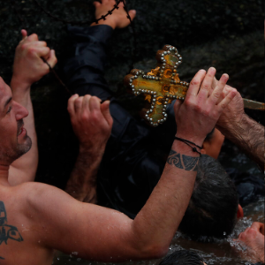 Seeking the cross: Icy dips mark the feast of Epiphany