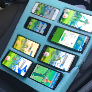 Trooper finds parked driver playing Pokemon Go on 8 phones