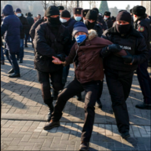 Protesters detained for criticizing Kazakhstan's vote
