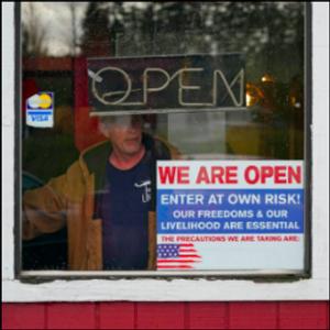 Defiance of virus dining bans grows as restaurants flounder