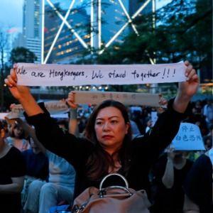 Mothers rally as Hong Kong's divide shows no sign of closing