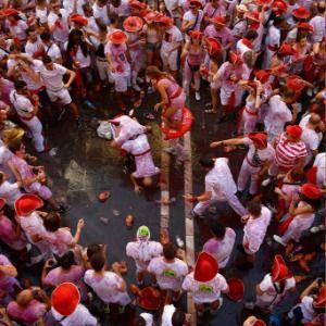 Spain: Pamplona kicks off running of bulls festival