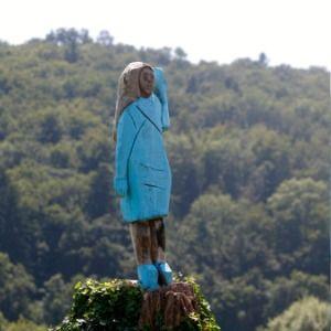 Melania Trump depicted in wooden statue in native Slovenia