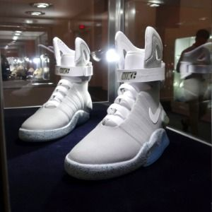 Collectable sneakers on auction at Sotheby's in New York