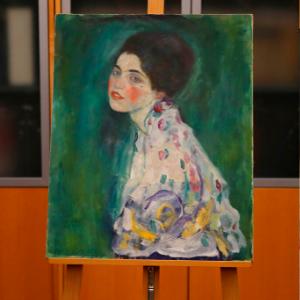 Portrait found in gallery's walls verified as missing Klimt