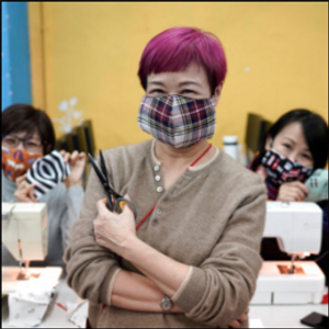 Hong Kong volunteers make homemade masks to combat virus