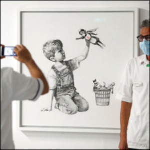 New Banksy art unveiled at hospital to thank doctors, nurses