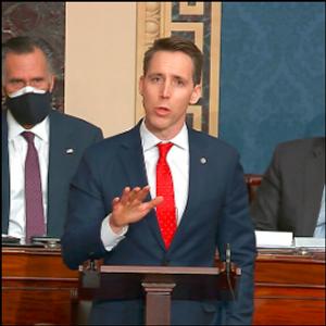 Hawley, facing fallout, blames media, D.C. 'establishment'