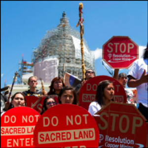 Apaches object to Forest Service review of huge copper mine