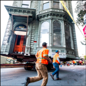 139-year-old house rolls to new San Francisco address
