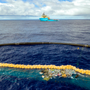 Dutch inventor says his ocean cleaning boom is working