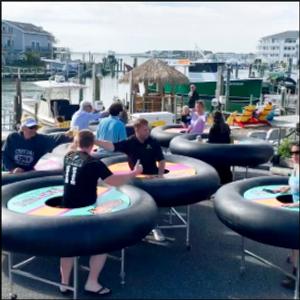 Bouncing back: Restaurant debuts 'bumper tables' amid virus