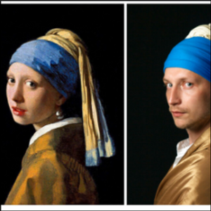 Russians decorate isolation by recreating artworks