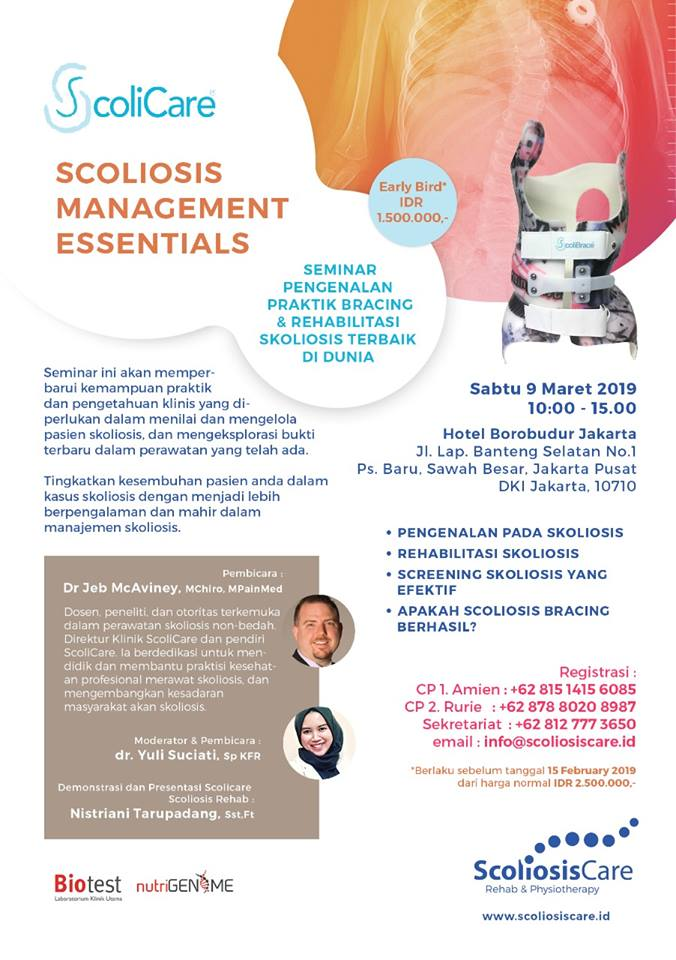 seminar dan workshop skoliosis