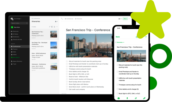 Screenshots of Evernote. Another alternative to eliminate interruptions.