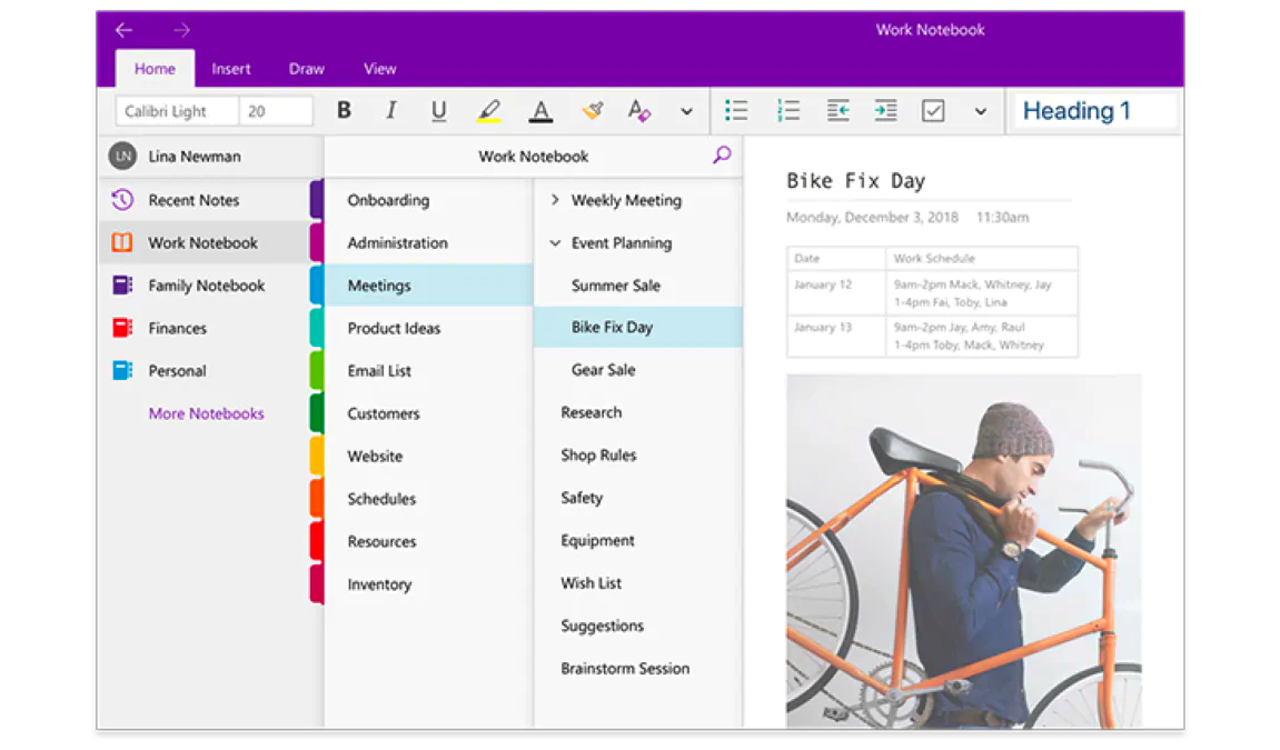 Screenshots of Onenote. A third alternative to eliminate interruptions.