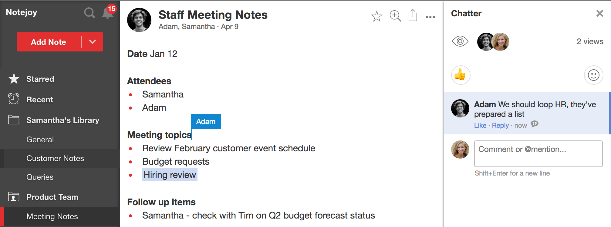 how to improve meeting notes with notejoy templates notejoy