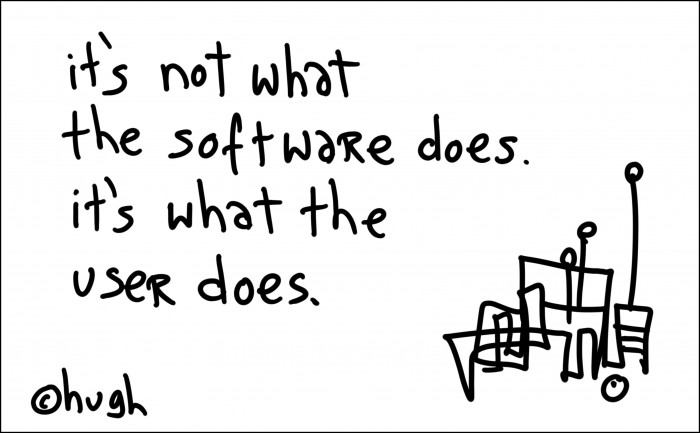 It's not what the software does, it's what the user does