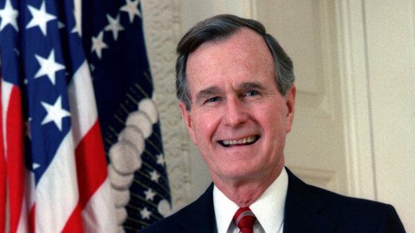 Homenaje de Trump a George H.W. Bush en el Capitolio