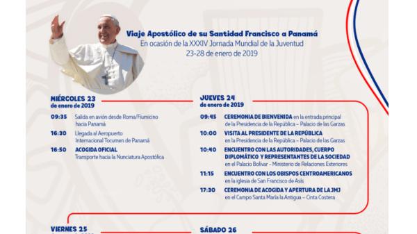 cronograma del papa en panamá 2019