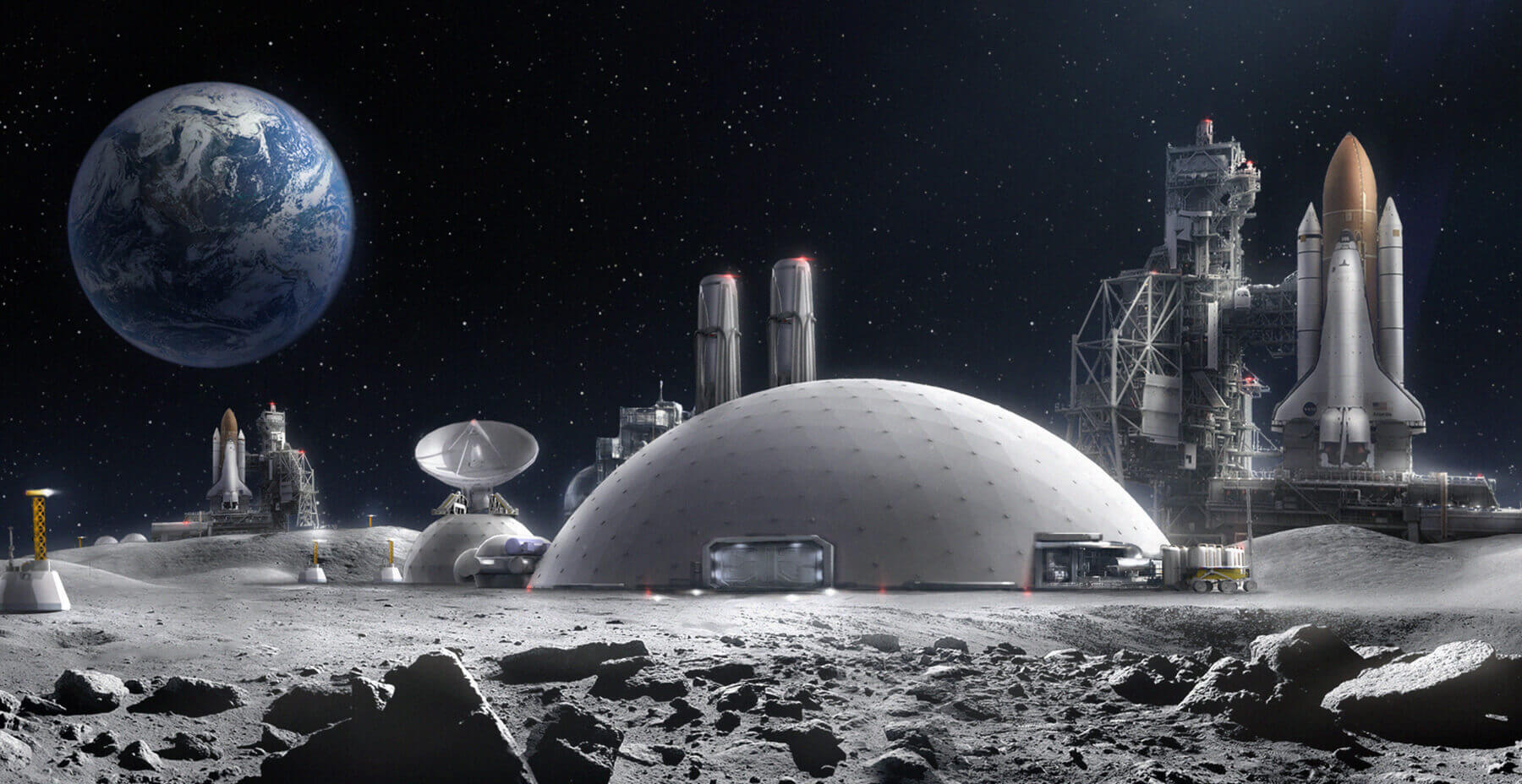 Virtual reality moon base