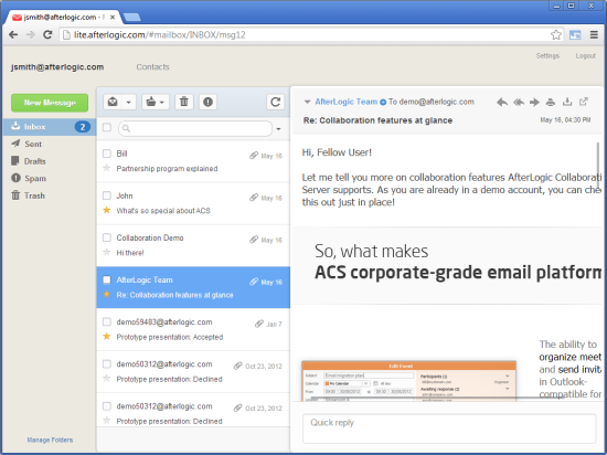 10 AJAX-based & PHP WebMail Clients For a Great User
