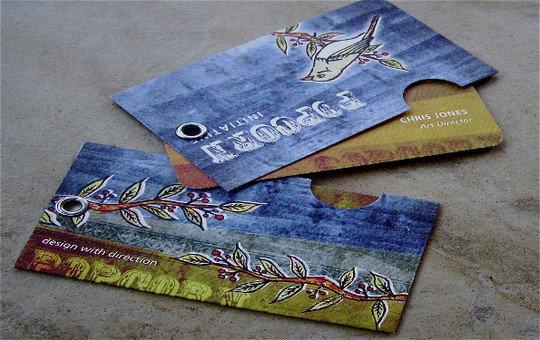 Business Card Design: Popcorn Initiative - Business Card Design