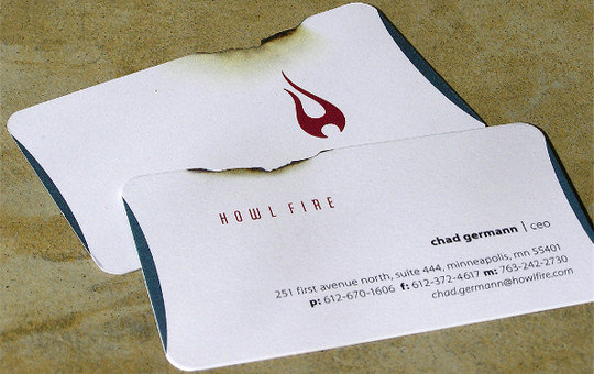 Business Card Design: Howl Fire - Business Card Design