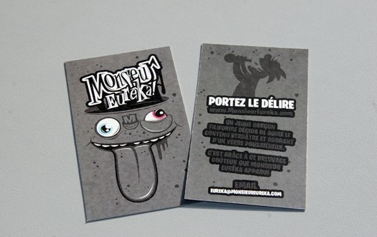 Business Card Design: Monsieur Eureka - Business Card Design