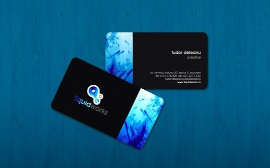 Business Card Design: iTudor - liquidworks business card