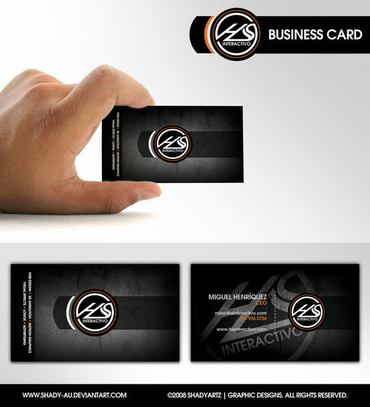 Business Card Design: Shady-AU - HS Interactivo Business Card