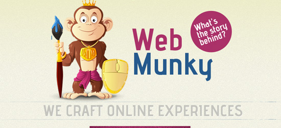 Web Munky welcome area